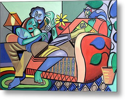 Together Again Metal Print by Anthony Falbo