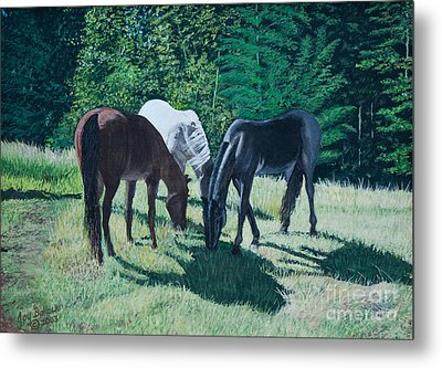 Together In Harmony. Metal Print