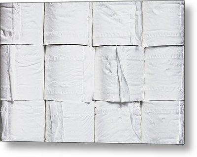 Toilet Paper Metal Print by Tom Gowanlock