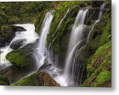 Tokul Creek Cascades Metal Print by Mark Kiver