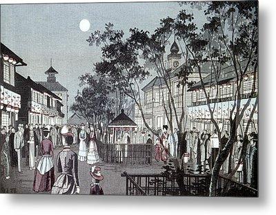 Tokyo Street Scene, 1889 Metal Print by Granger