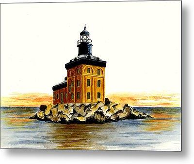 Toledo Harbor Lighthouse Metal Print by Michael Vigliotti