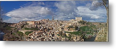Toledo Old Town Panorama Metal Print by Rudi Prott