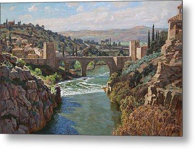 Toledo. San-martin Bridge Metal Print by Korobkin Anatoly