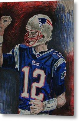 Tom Brady Metal Print
