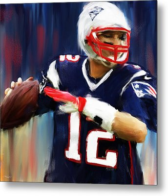 Tom Brady Metal Print by Lourry Legarde