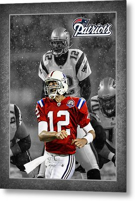 Tom Brady Patriots Metal Print