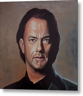 Tom Hanks Metal Print by Paul Meijering