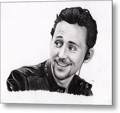 Tom Hiddleston 2 Metal Print by Rosalinda Markle