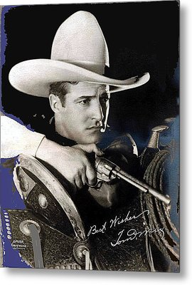 Tom Mix Portrait Melbourne Spurr Hollywood California C.1925-2013 Metal Print by David Lee Guss