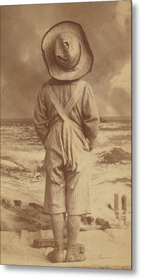 Tom Sawyer At The Beach Metal Print by Paul Ashby Antique Image