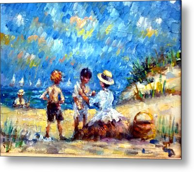 Tom Steve With Gerry At The Beach Metal Print