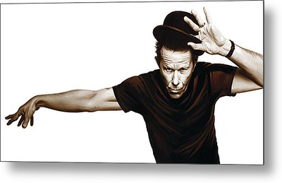 Tom Waits Artwork  4 Metal Print