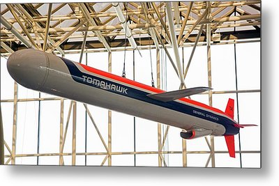 Tomahawk Cruise Missile In A Museum Metal Print by Jim West