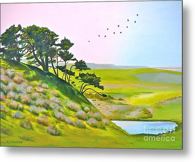 Tomales California Metal Print by K L Kingston