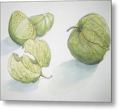 Tomatillos Metal Print by Maria Hunt