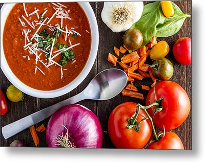 Tomato And Basil Soup Metal Print