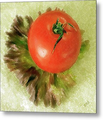 Tomato And Lettuce Metal Print by Ben and Raisa Gertsberg