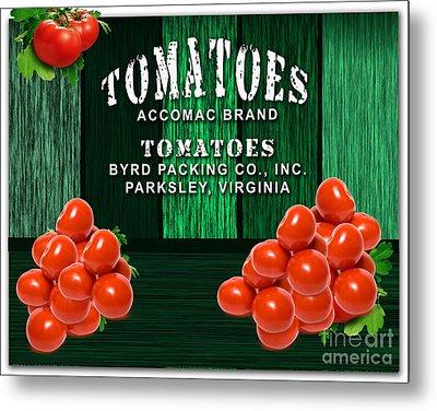 Tomato Farm Metal Print by Marvin Blaine