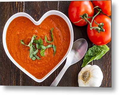 Tomato Soup Love Metal Print