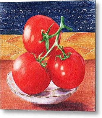 Tomatoes Metal Print by Anastasiya Malakhova