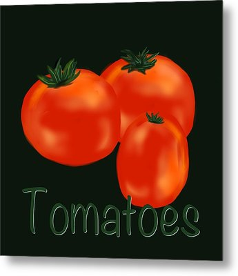 Tomatoes Metal Print by Christine Fournier