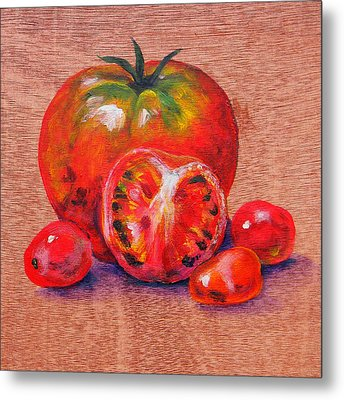 Tomatoes Metal Print by Judy Bruning