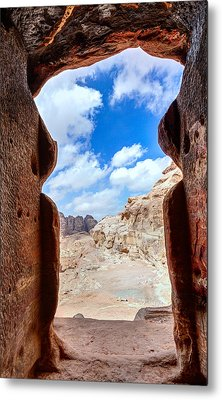 Tomb In Petra Metal Print by Alexey Stiop