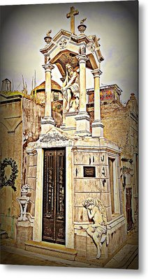 Tomb In Recoleta Cemetary Buenos Aries Metal Print by John Potts