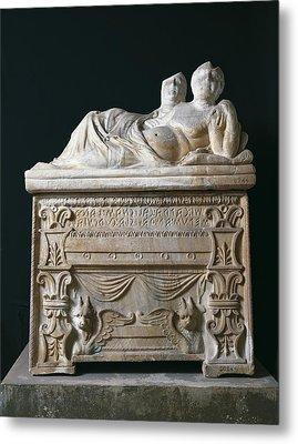 Tomb Of Calisna Sepu. 4th-3rd C. Bc Metal Print by Everett