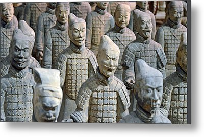 Metal Print featuring the photograph Tomb Warriors by Robert Meanor