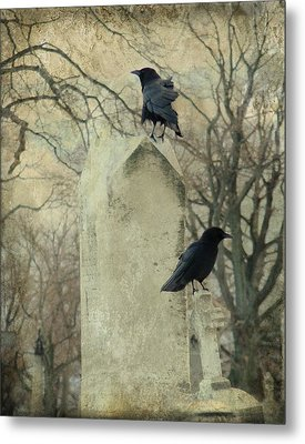 Tombstone Hoppers Metal Print by Gothicrow Images