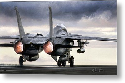 Tomcat Launch Metal Print by Peter Chilelli