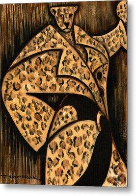 Cheetah Fur Coat Art Print Metal Print by Tommervik