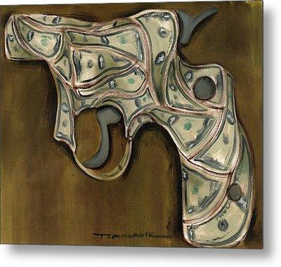 Tommervik Cash Gun Art Print Metal Print by Tommervik