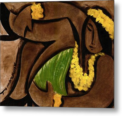 Tommervik Abstract Hula Girl Art Print Metal Print
