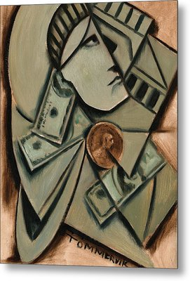 Tommervik Cubism New York Statue Of Liberty Art Print Metal Print