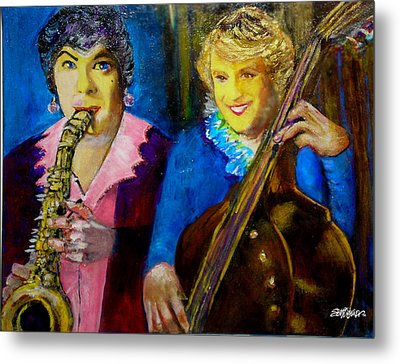 Tony And Jack-some Like It Hot Metal Print by Seth Weaver