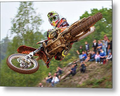 Tony Cairoli Whip Look - Maggiora Mx Opening Metal Print by Stefano Minella