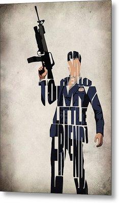 Tony Montana - Al Pacino Metal Print by Inspirowl Design