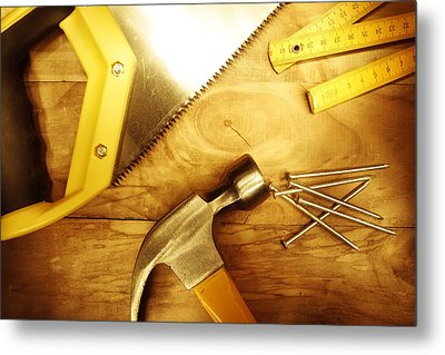 Tools Metal Print by Les Cunliffe