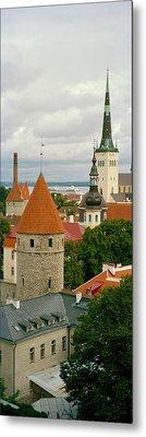 Toompea View, Old Town, Tallinn, Estonia Metal Print by Panoramic Images