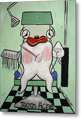 Tooth Ache Metal Print by Anthony Falbo