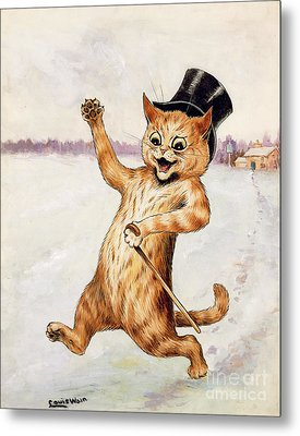 Top Cat Metal Print by Louis Wain