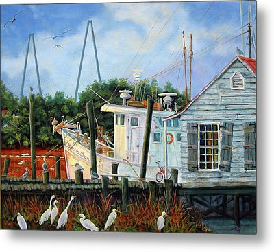 Top Dog Shrimper - At Rest Metal Print by Dwain Ray