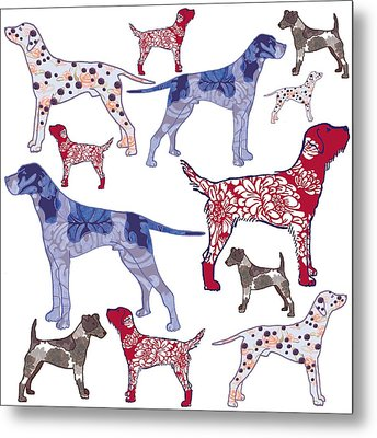 Top Dogs Metal Print by Sarah Hough