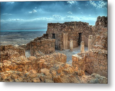 Top Of Masada Metal Print by Don Wolf
