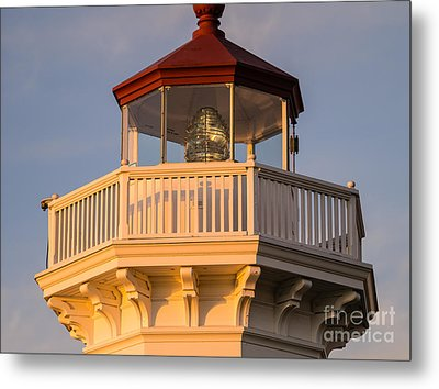 Deck Of Mukilteo Lighthouse Metal Print by Tracy Knauer