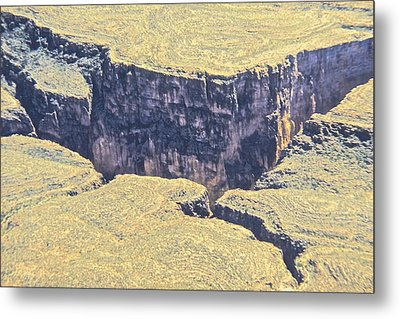 Above The Canyon Top   Metal Print by Jim Ellis