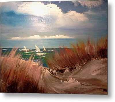 Top Of The Dune Metal Print by Joseph Gallant